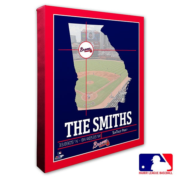 Atlanta Braves Personalized MLB Wall Art - 20695