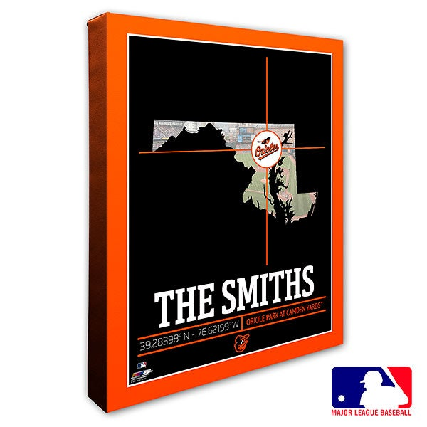 Baltimore Orioles Personalized MLB Wall Art - 20696