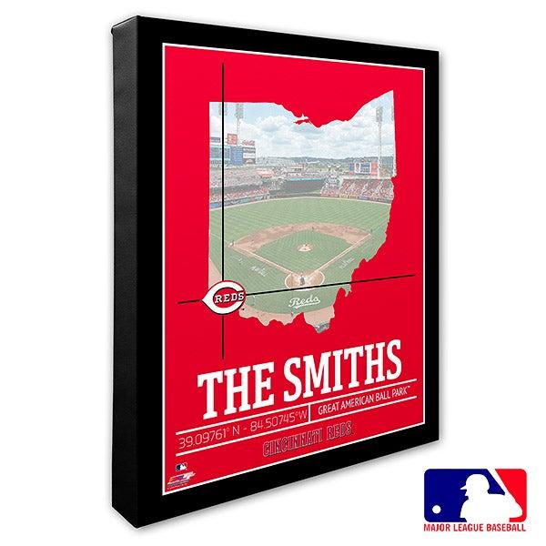 Cincinnati Reds Personalized MLB Wall Art - 20700