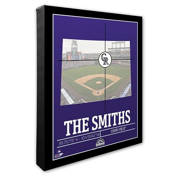 buy popular fdac1 6ea27 Colorado Rockies Personalized MLB Stadium Coordinates Canvas Print
