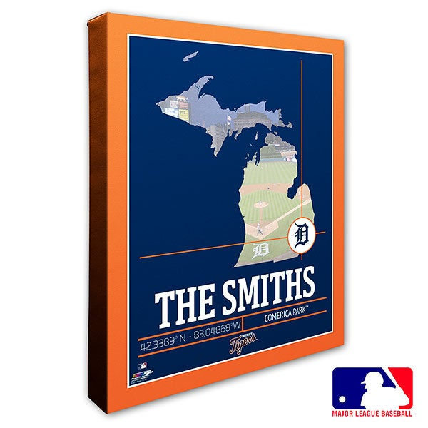 Detroit Tigers Personalized MLB Wall Art - 20703