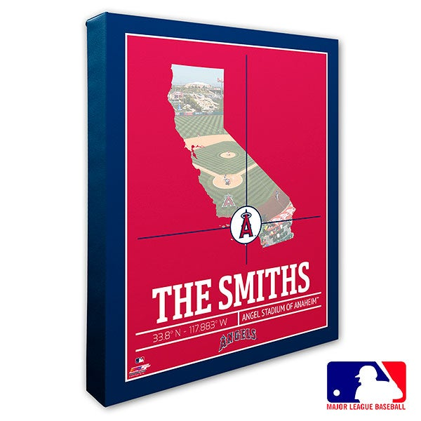 Los Angeles Angels Personalized MLB Wall Art - 20706