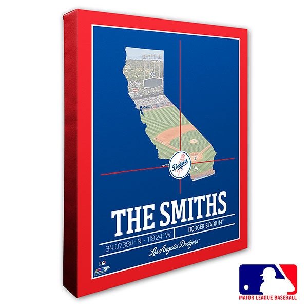 Los Angeles Dodgers Personalized MLB Wall Art - 20707