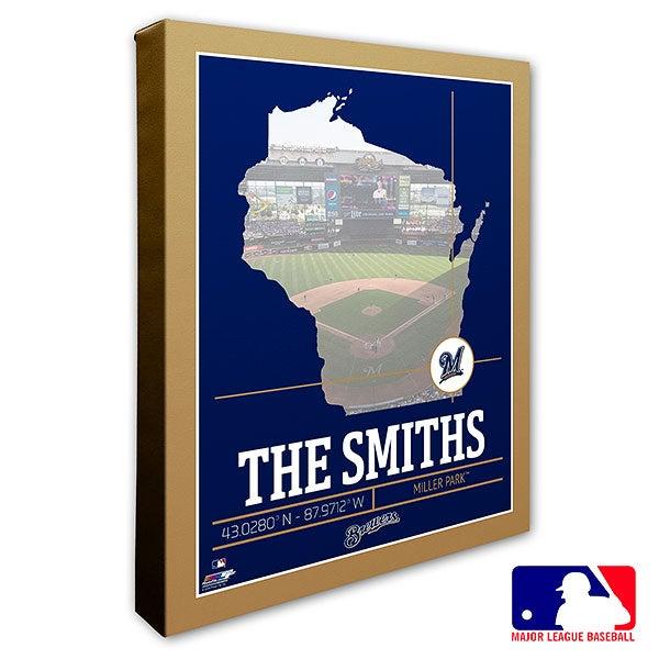 Milwaukee Brewers Personalized MLB Wall Art - 20709