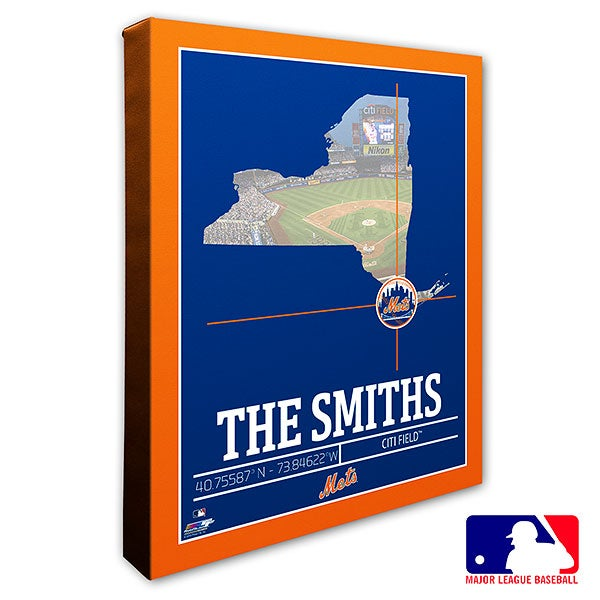 New York Mets Personalized MLB Wall Art - 20711