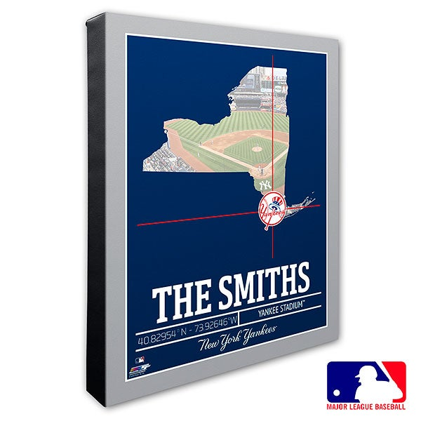 New York Yankees Personalized MLB Wall Art - 20712