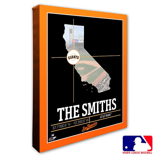 San Francisco Giants Personalized MLB Wall Art - 20717