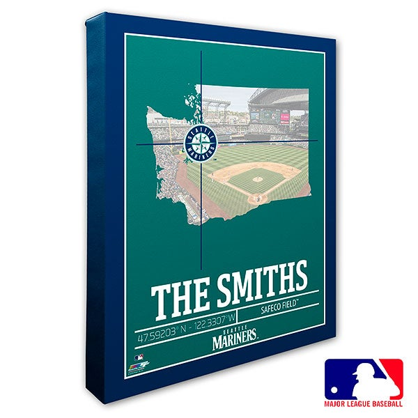 Seattle Mariners Personalized MLB Wall Art - 20718