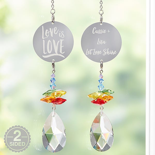 Love Is Love Personalized Rainbow Suncatcher - 20724