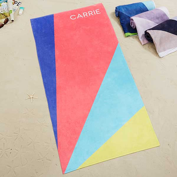 Colorburst Personalized Beach Towel - 20731