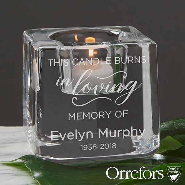 Orrefors Engraved Memorial Votive Candle Holder - 20757