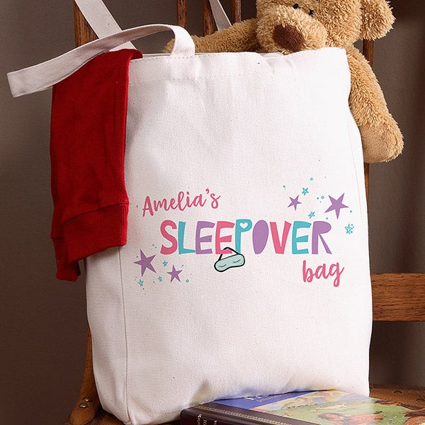 Personalized Sleepover Tote Bag For Girls - 20804