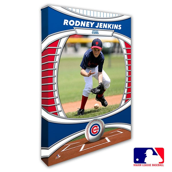 Chicago Cubs Personalized MLB Photo Canvas Print - 20817