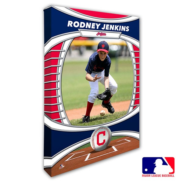 Cleveland Indians Personalized MLB Photo Canvas Print - 20821
