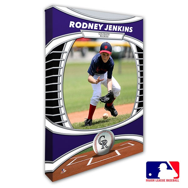 Colorado Rockies Personalized MLB Photo Canvas Print - 20822