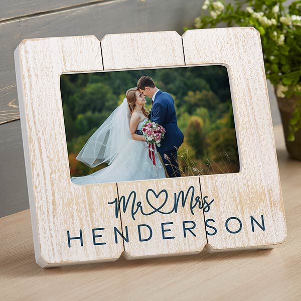 Personalized Wedding Shiplap Picture Frame - Infinite Love - 20875