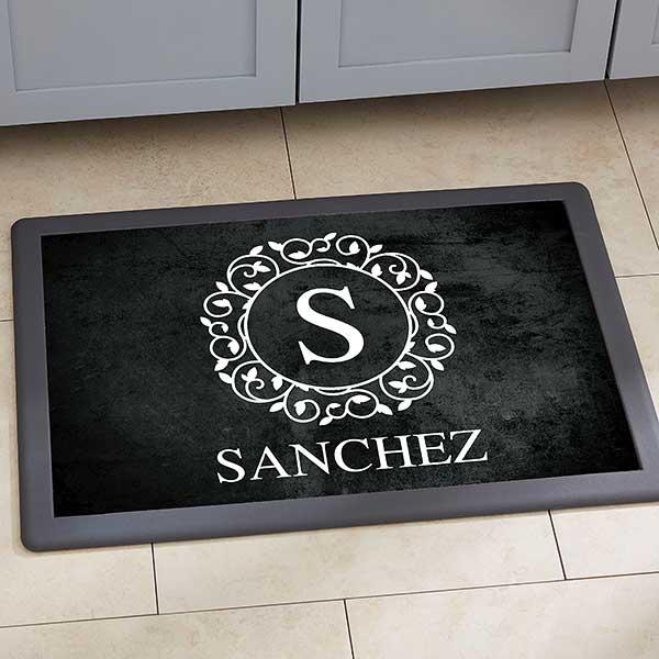 Personalized Kitchen Mats Circle Vine Monogram 20892