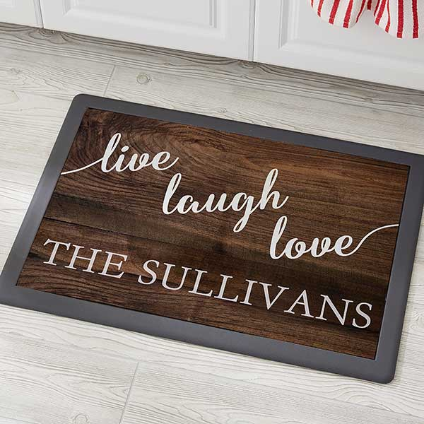 Personalized Kitchen Mats - Live, Laugh, Love - 20894