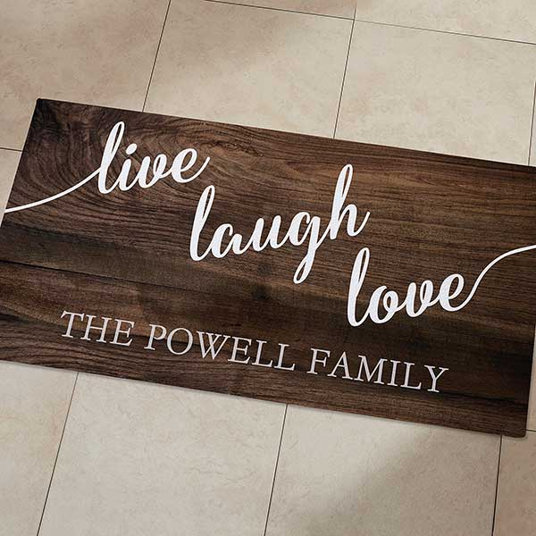 Live Laugh Love 24x48 Personalized