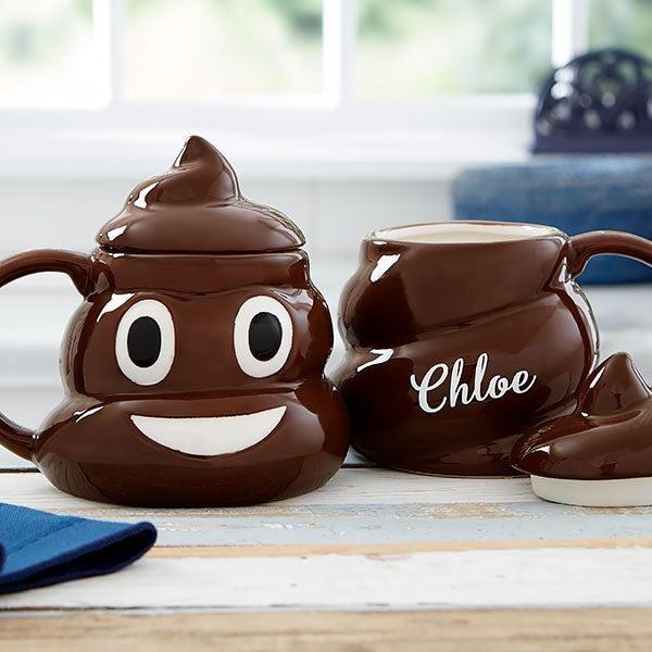 Personalized Poop Emoji Coffee Mug - 20921