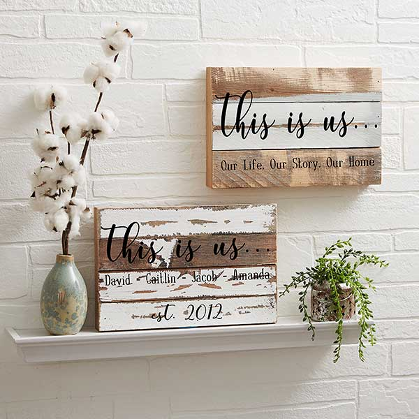 Custom 12x8 Reclaimed Wood Sign - This Is Us