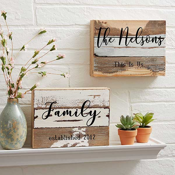 This Is Us Personalized Reclaimed Wood Signs - 20927