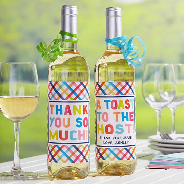 Personalized Wine Bottle Labels For Host/Hostess Gift - 20934