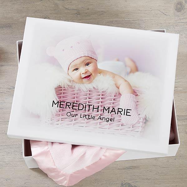 Personalized Baby Photo Keepsake Memory Box - 20945