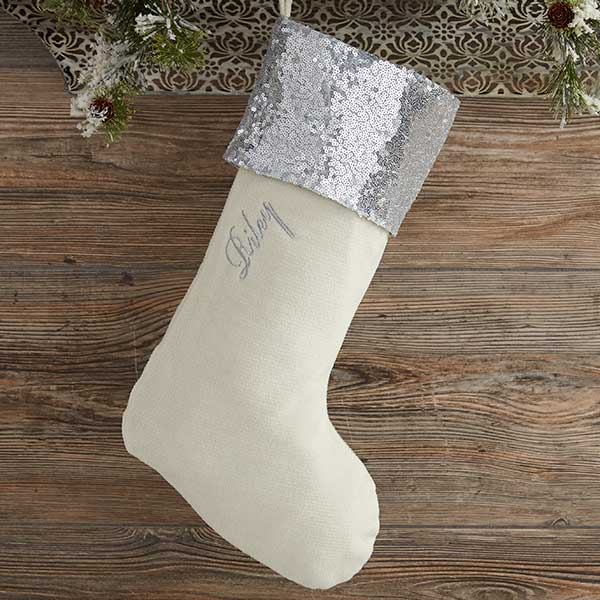 Personalized Sequin Christmas Stockings - 20988