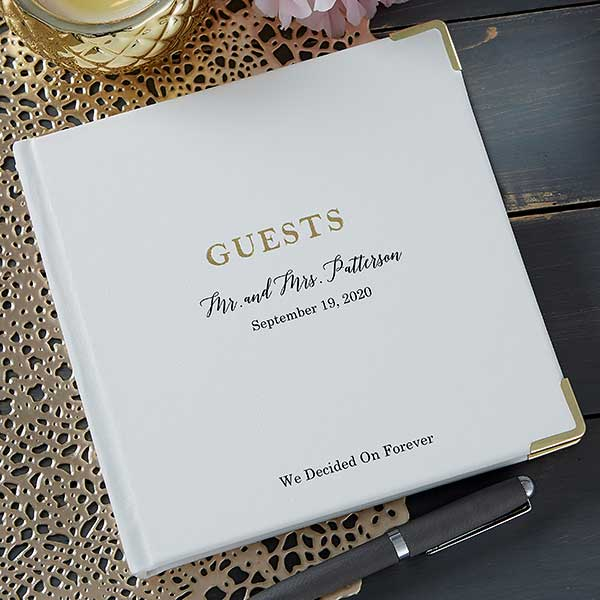 Personalized Wedding Guest Book.The Ultimate Personalized Wedding Guest Book