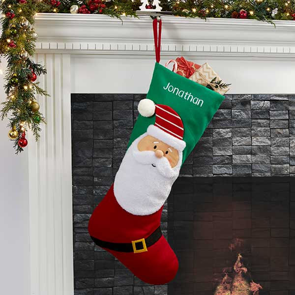 513f8ffd28c North Pole Character Personalized Jumbo Christmas Stocking