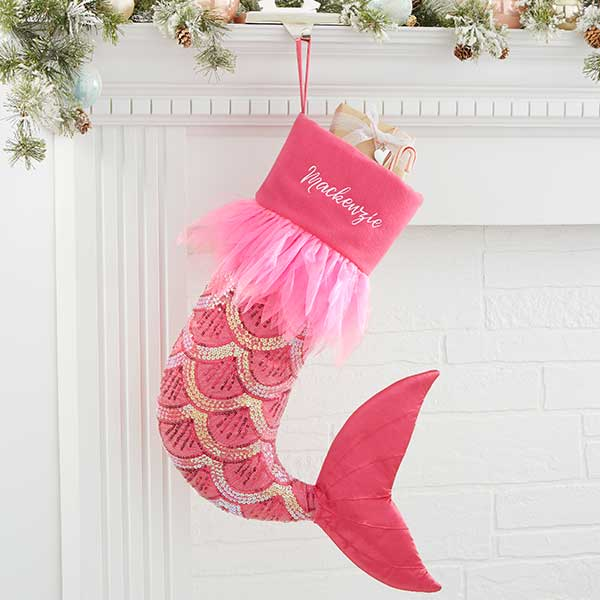 Personalized Mermaid Christmas Stocking - 21011