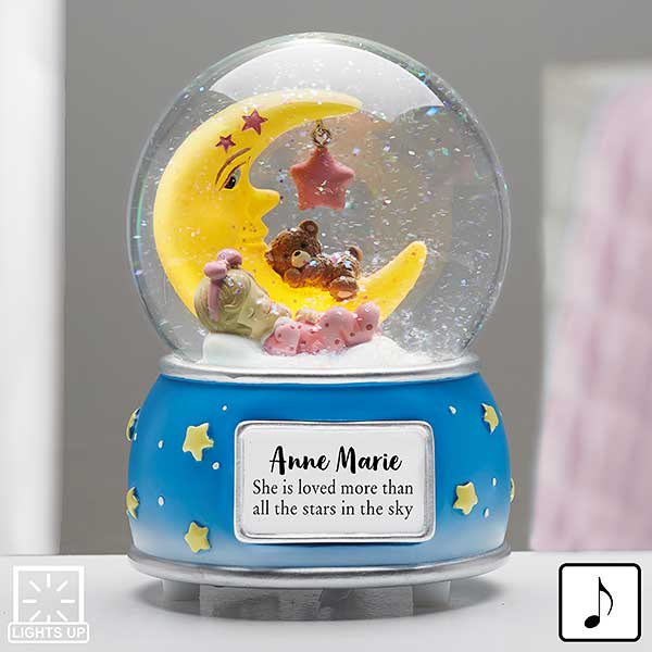 Baby Girl Personalized Musical & Light Up Snow Globe - 21012