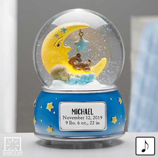 Baby Boy Personalized Musical & Light Up Snow Globe - 21013