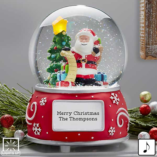 Santa Claus Personalized Musical & Light Up Snow Globe - 21014