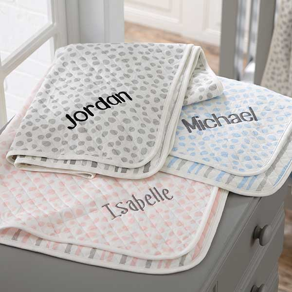 100% Cotton Knit Personalized Baby Blankets - 21021