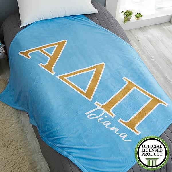 Alpha Delta Pi Personalized Greek Letter Blankets - 21023