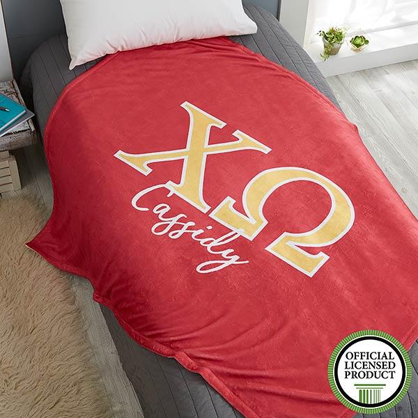 Chi Omega Personalized Greek Letter Blankets - 21025