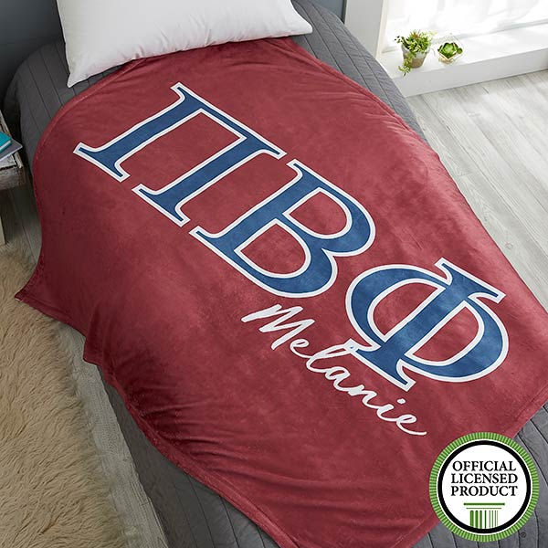 Pi Beta Phi Personalized Greek Letter Blankets - 21034