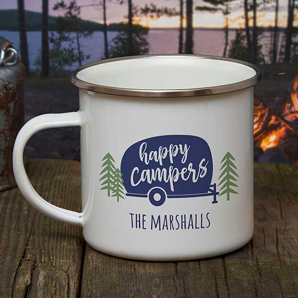 Happy Camper Personalized Camping Mugs - 21040