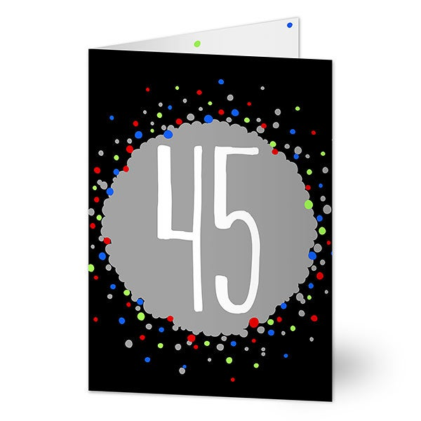 Personalized Age Specific Birthday Cards For Him