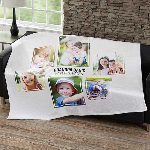 Personalized Blankets For Men - Six Photo Collage - 21057