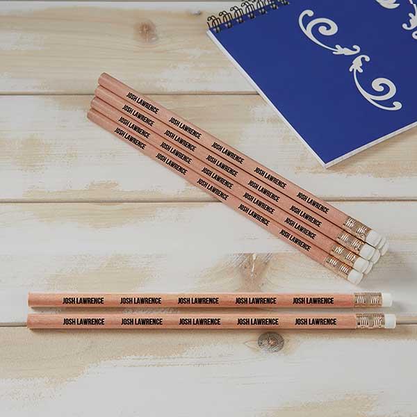 Personalized Pencils - Cedar Wood - Set of 12 - 21062