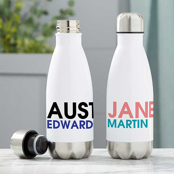 Personalized Insulated Water Bottles - Bold Name - 21089