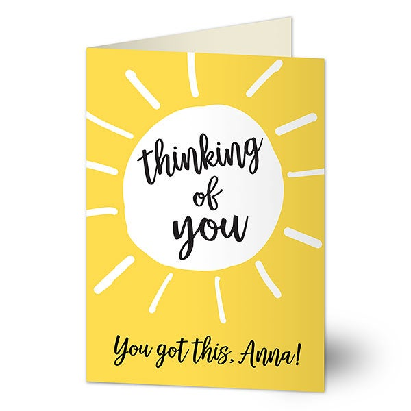 Thinking of You Personalized Greeting Card - Sunshine - 21126