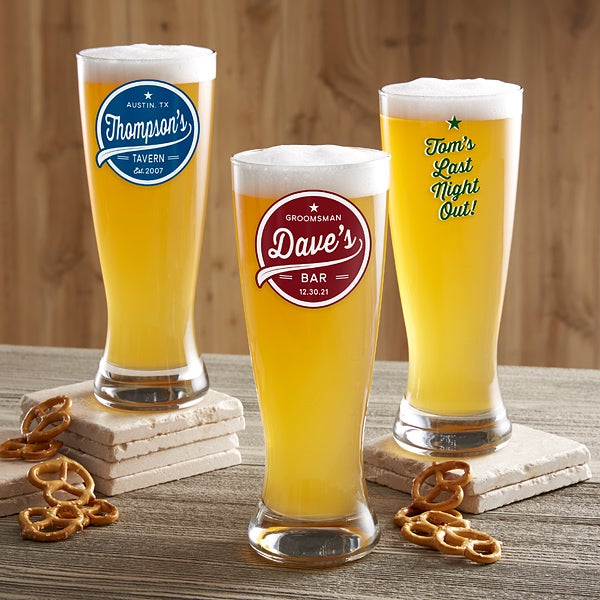 Brewing Co Personalized Beer Pilsner Printed Glass