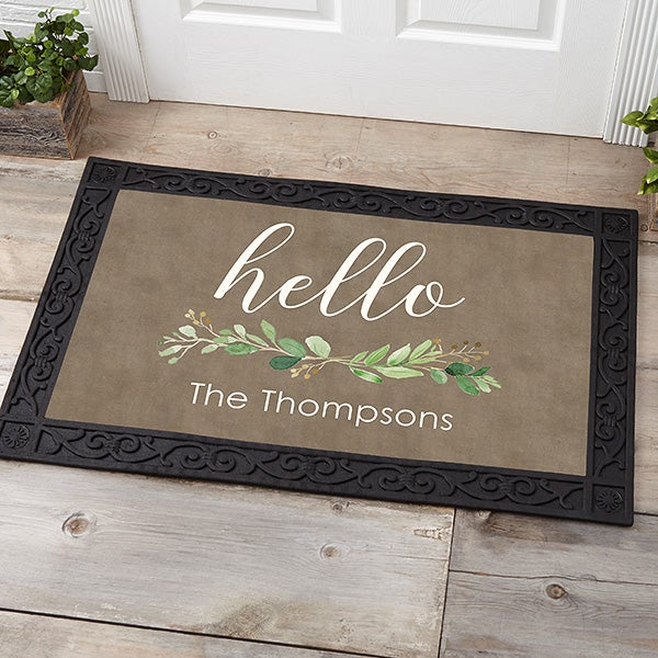 Personalized Doormats - Greenery Welcome - 21165