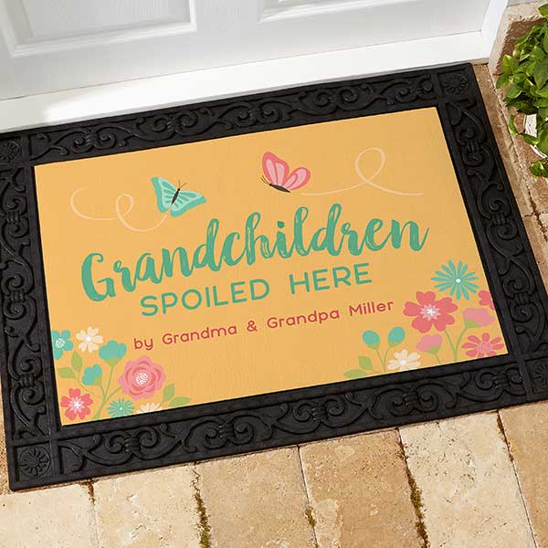 Grandchildren Spoiled Here Personalized Doormats - 21170
