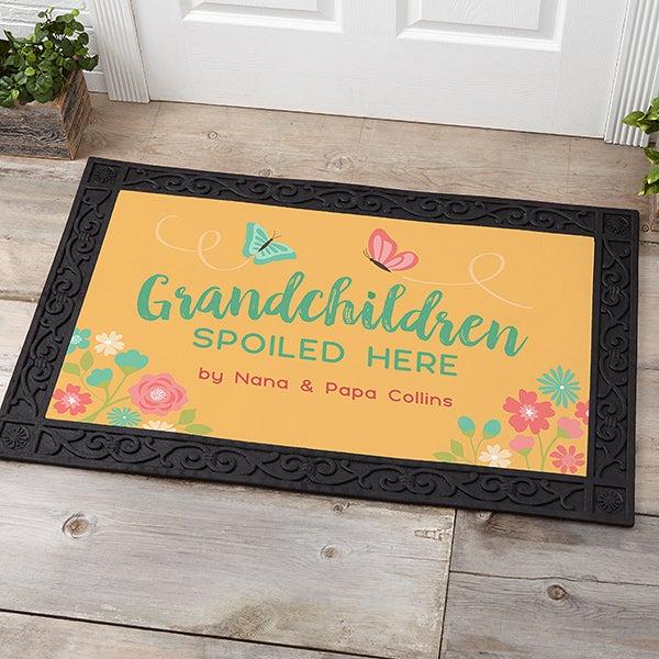 Grandchildren Spoiled Here Personalized Doormats - 21170