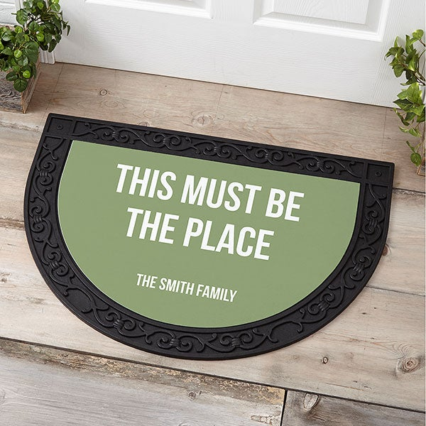 Personalized Half Round Doormats - Add Any Text - 21178